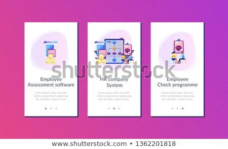 Werknemer software app interface sjabloon Stockfoto © RAStudio