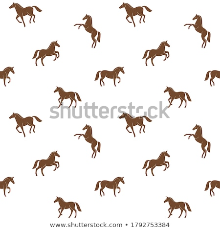 Horse silhouette simple seamless vector pattern. stock photo © yopixart