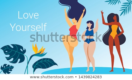 Body positive landing page template Stock photo © RAStudio