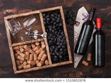 zarif · cam · karanlık · üzüm · şişe - stok fotoğraf © denismart