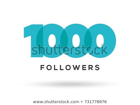 Thanks for 1000 likes status Stock photo © orson