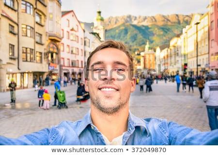 Ancianos toma foto ciudad ciudad parque Foto stock © robuart
