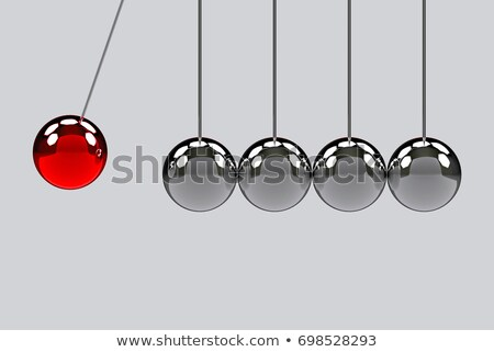 Pendulum red metallic silver chrome 3d-illustration background Stock photo © Wetzkaz