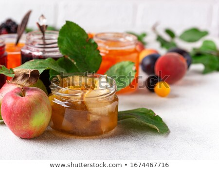 assortment of different jams in gars stock photo © furmanphoto