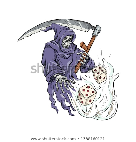 Grim Reaper Throwing the Dice Drawing Color Stock photo © patrimonio