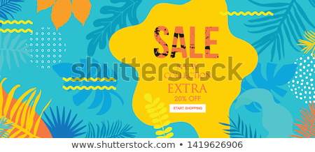 Summer Discount Sale Posters Vector Illustration Stock photo © robuart