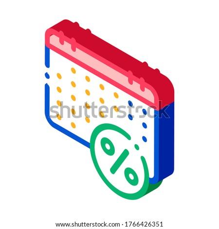 Wynagrodzenie kalendarza harmonogram izometryczny ikona wektora Zdjęcia stock © pikepicture