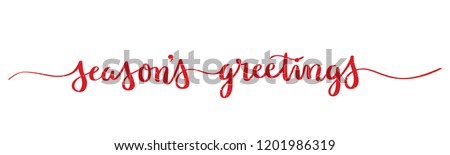 Stock photo: seasons greetings