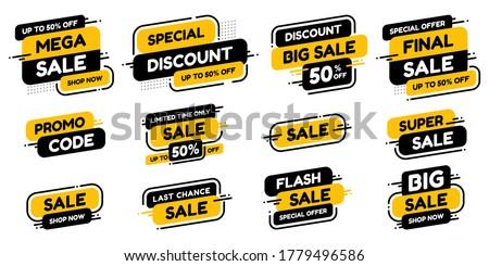 vector set of labels percent stock photo © imaster