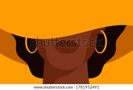 Mulher seis mulher jovem isolado preto modelo Foto stock © zastavkin