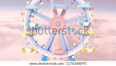 ferris wheel against a blue sky Stock photo © H2O