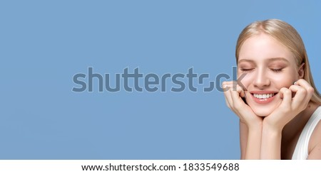 Portrait of a girl with eyes closed Stock photo © Kotenko