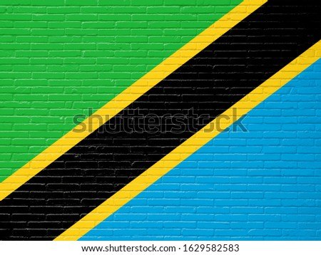 フラグ タンザニア レンガの壁 描いた グランジ テクスチャ ストックフォト © creisinger