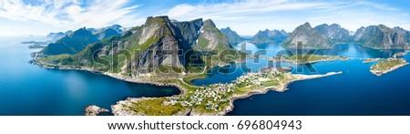 Lofoten Vista Stock photo © Harlekino