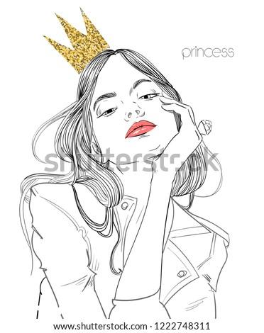 Mulher coroa elegante cabelo cinza neve Foto stock © dolgachov