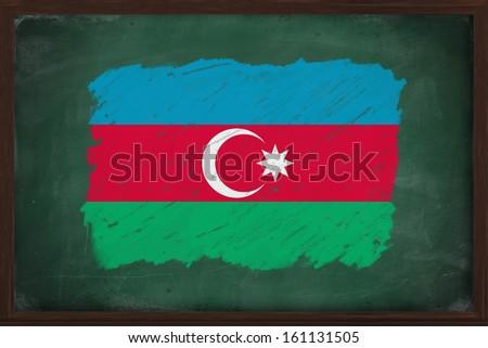 флаг Азербайджан доске окрашенный мелом цвета Сток-фото © vepar5