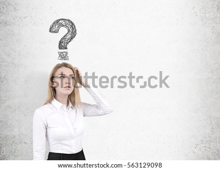 Blonde woman with her head in her hands Stock photo © photography33