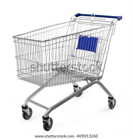 Bevásárlókocsi izolált fehér háttér vásárlás doboz Stock fotó © M-studio