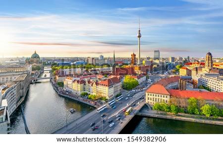 Berlin ufuk çizgisi Almanya şehir iş dizayn Stok fotoğraf © compuinfoto