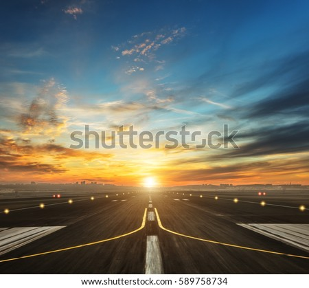 runway at the airport Stock photo © meinzahn
