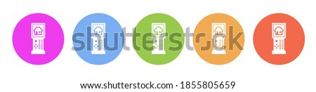 House Equipments Pink Vector Button Icon Design Set Stock photo © rizwanali3d