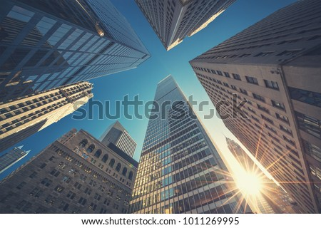A city with tall buildings Stock photo © bluering