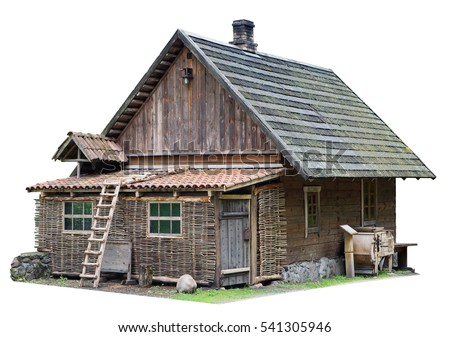 Old wooden house with green wall Stock photo © dariazu