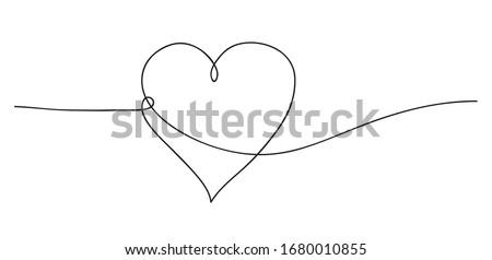 Hart abstract liefde symbool lijn kunst Stockfoto © ESSL