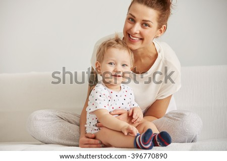 A Mother with is one Years Old Boy Stock photo © Lopolo