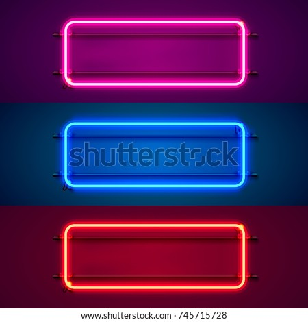 club signboard in red neon lights background Stock photo © SArts