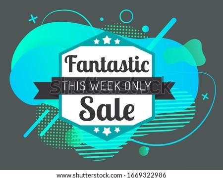 Fantastique vente numérique Splash étoiles semaine Photo stock © robuart