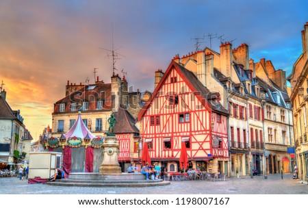 Square in Dijon, France Stock photo © borisb17