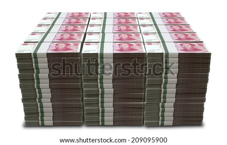 Scattered Chinese Yuan Banknote Pile Stock photo © albund