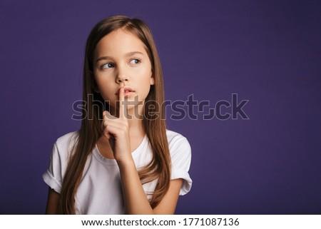 Fotoğraf ciddi kadın sessizlik jest Stok fotoğraf © deandrobot