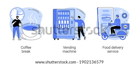 Take away lunch and snack abstract concept vector illustrations. Stock photo © RAStudio