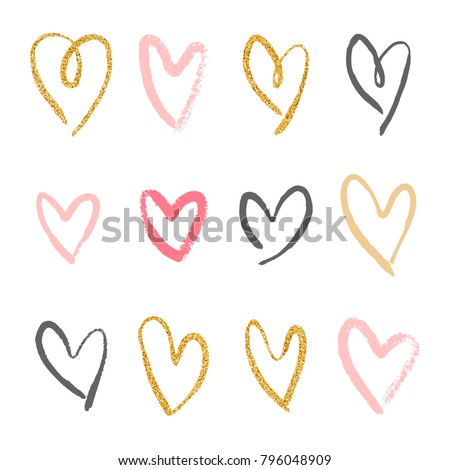 hand drawn brush strokes set in different colors Stock photo © SArts
