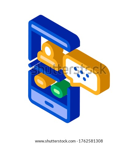 Passenger Incoming Call Online isometric icon vector illustration Stock photo © pikepicture