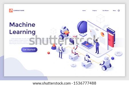 искусственный интеллект рекламировать баннер вектора компьютер робота Сток-фото © pikepicture