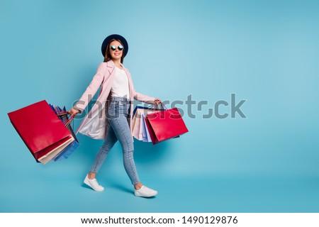 Stock photo: Woman on a shopping trip
