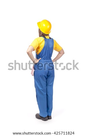 Female worker in dungarees Stock photo © photography33