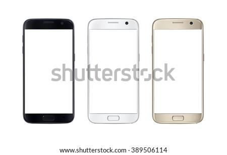Modern smart phone isolated on white stock photo © shutswis