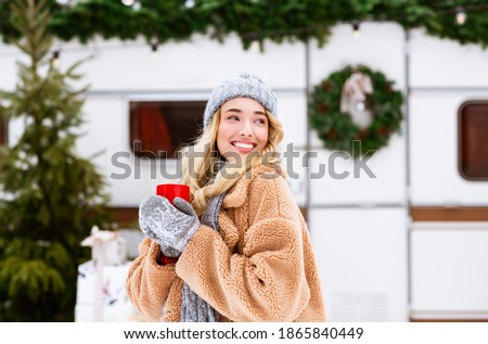 woman portrait in winter Stock photo © smithore