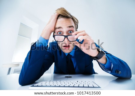 Shocked office worker Stock photo © photography33