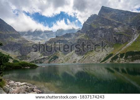 Ver trilha preto lagoa alto natureza Foto stock © pixelman