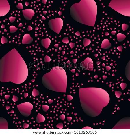 absztrakt · piros · szívek · valentin · nap · végtelen · minta · textúra - stock fotó © boroda