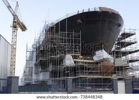 navio · edifício · dentro · mar · ponte · trabalhador - foto stock © mady70