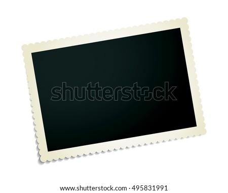 Vintage фото изолированный белый бумаги Сток-фото © Avlntn