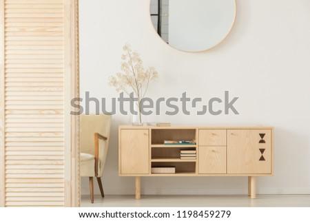 echt · foto · klassiek · fauteuil · muur · home - stockfoto © rufous