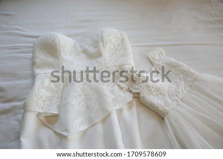 Lüks nedime elbise yalıtılmış gri düğün Stok fotoğraf © Lady-Luck