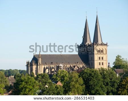 Evangelical church, Xanten, Germany Stock photo © borisb17